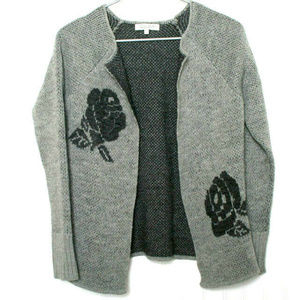 Cocogio Gray Wool Mohair Cardigan Med (e01)